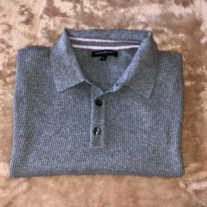 BANANA REPUBLIC TEXTURED POLO SHIRT